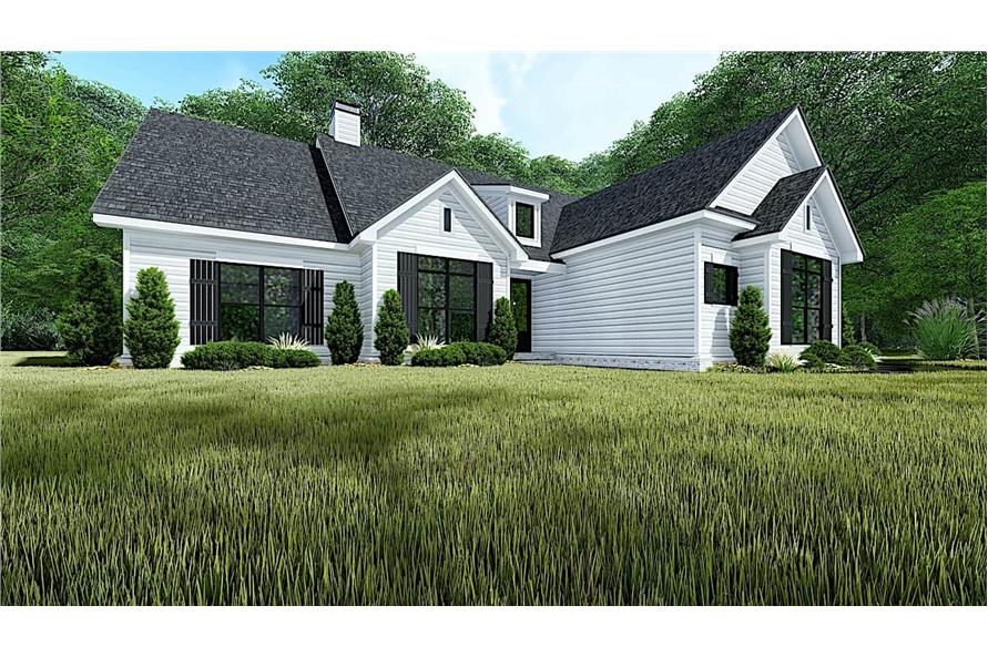 193-1151: Home Plan Rendering-Front View