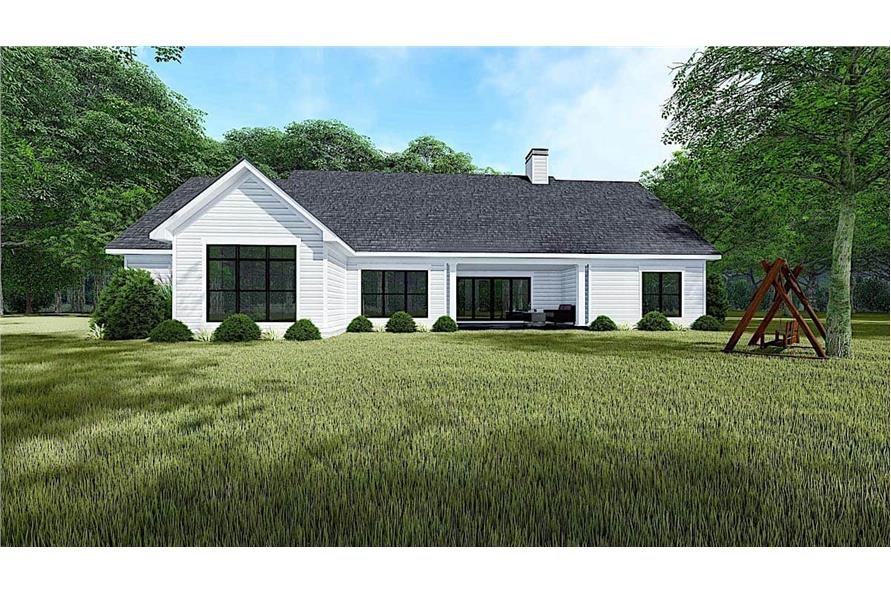 193-1151: Home Plan Rendering-Rear View