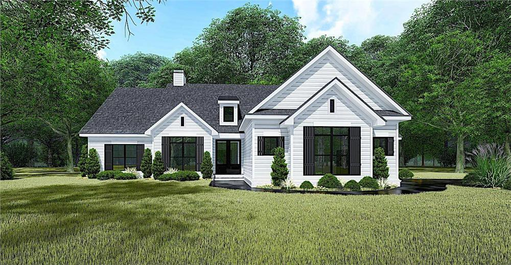 Ranch home (ThePlanCollection: Plan #193-1151)