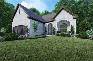3-Bedroom, 1493 Sq Ft French House - Plan #193-1154 - Front Exterior