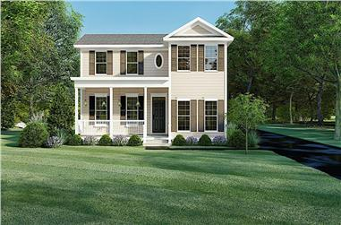 3-Bedroom, 1680 Sq Ft 1 1/2 Story Home - Plan #193-1155 - Main Exterior