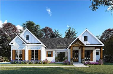 3-Bedroom, 2073 Sq Ft Contemporary House - Plan #193-1157 - Front Exterior