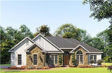 4-Bedroom, 1989 Sq Ft Ranch House - Plan #193-1158 - Front Exterior