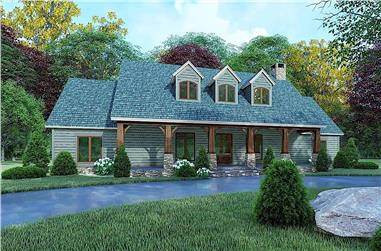 3-Bedroom, 2050 Sq Ft Ranch House - Plan #193-1161 - Front Exterior