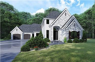 3-Bedroom, 3020 Sq Ft European Home - Plan #193-1163 - Main Exterior