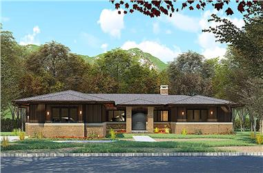 4-Bedroom, 2681 Sq Ft Contemporary Home - Plan #193-1164 - Main Exterior