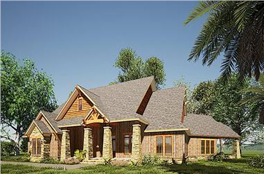 3-Bedroom, 3698 Sq Ft Ranch Home - Plan #193-1165 - Main Exterior