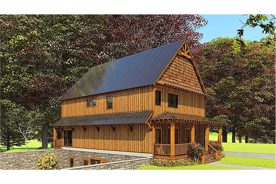 Left View of this 5-Bedroom,3903 Sq Ft Plan -193-1166