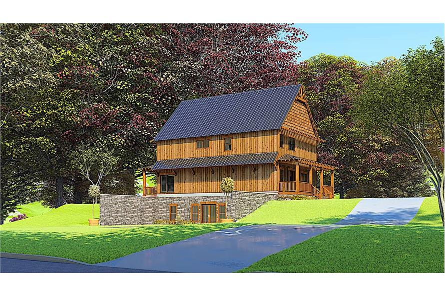 Side View of this 5-Bedroom,3903 Sq Ft Plan -193-1166