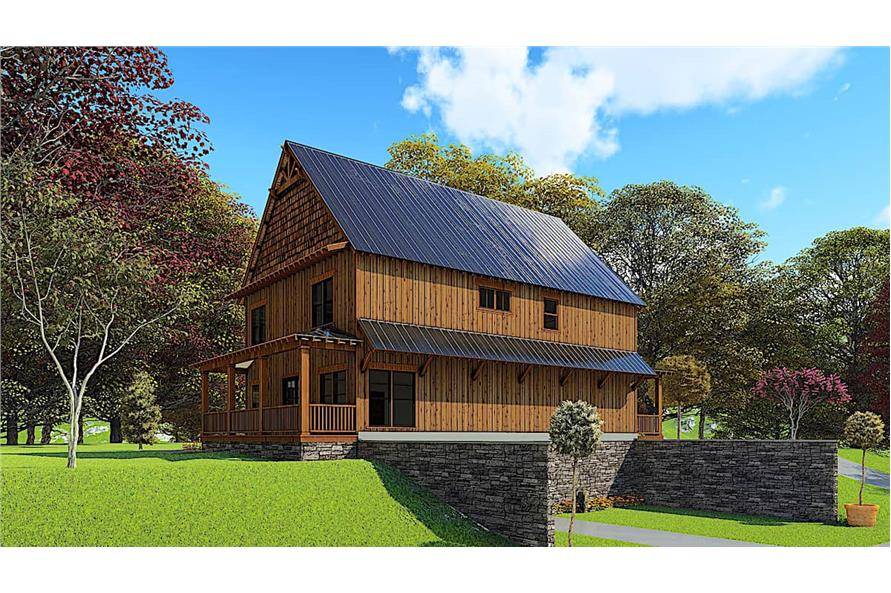 Rear View of this 5-Bedroom,3903 Sq Ft Plan -193-1166