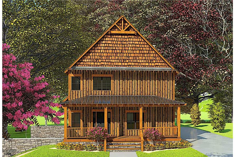 5-Bedroom, 3903 Sq Ft Country Home Plan - 193-1166 - Main Exterior