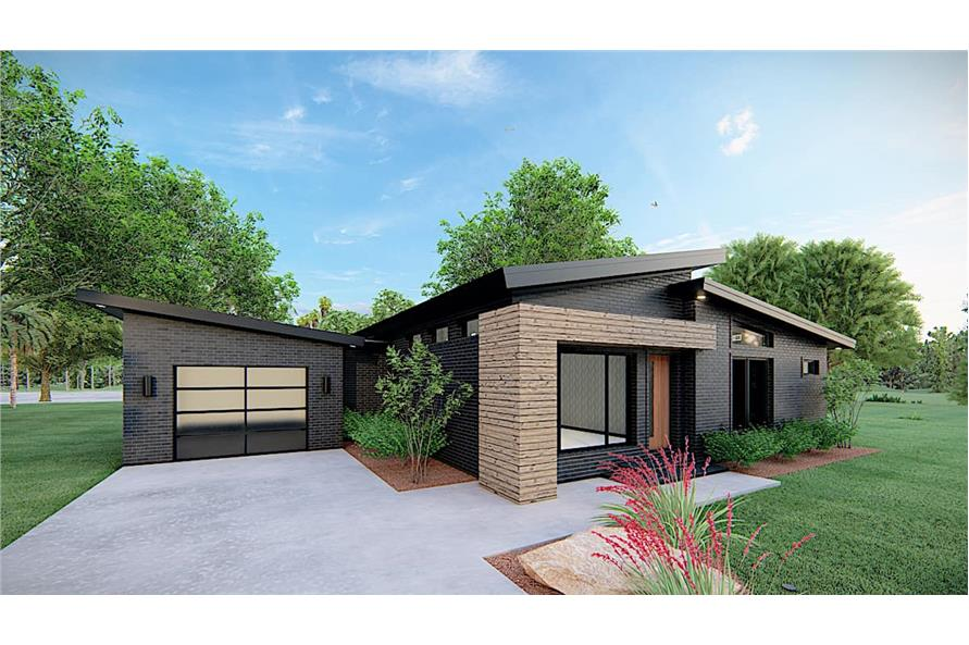 Left View of this 3-Bedroom,1131 Sq Ft Plan -193-1170