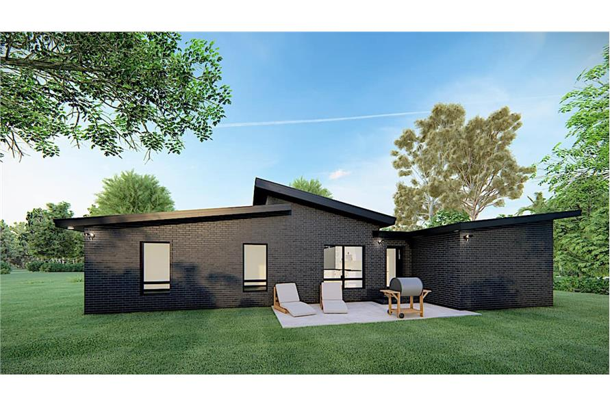 Rear View of this 3-Bedroom,1131 Sq Ft Plan -193-1170