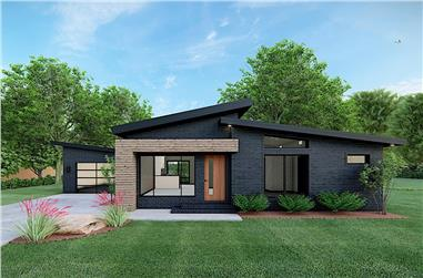 3-Bedroom, 1131 Sq Ft Contemporary House Plan - 193-1170 - Front Exterior