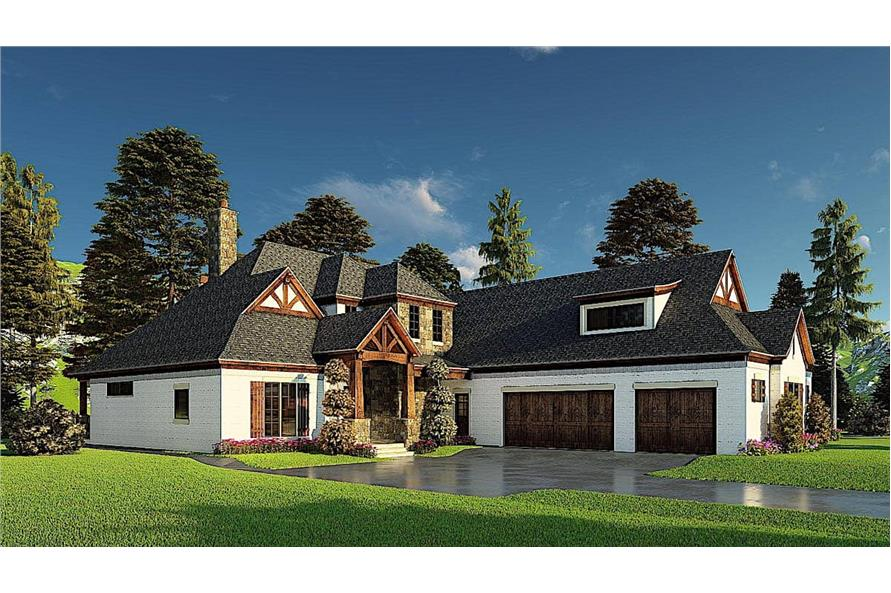 Left View of this 4-Bedroom,3366 Sq Ft Plan -193-1171