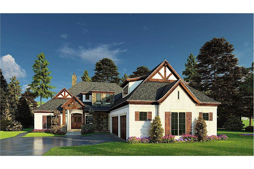 Front View of this 4-Bedroom,3366 Sq Ft Plan -193-1171