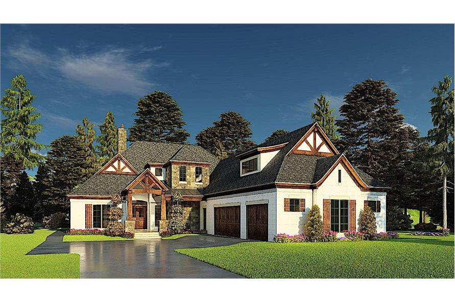 4-Bedroom, 3366 Sq Ft French House - Plan #193-1171 - Front Exterior