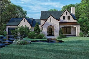 4-Bedroom, 2577 Sq Ft French House - Plan #193-1173 - Front Exterior
