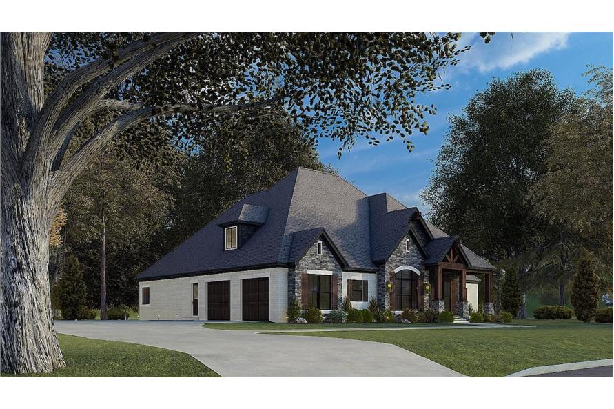 Left View of this 4-Bedroom,2537 Sq Ft Plan -193-1174