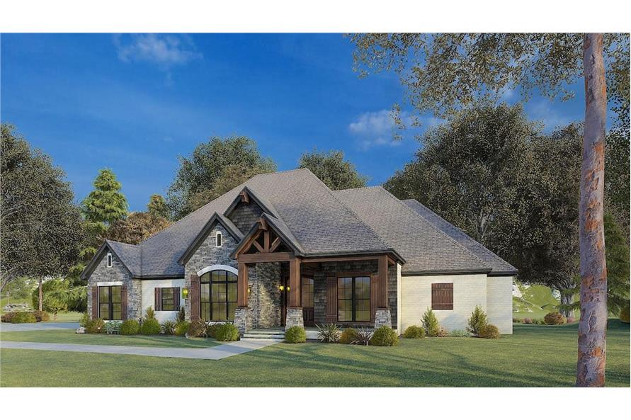 Right View of this 4-Bedroom,2537 Sq Ft Plan -193-1174