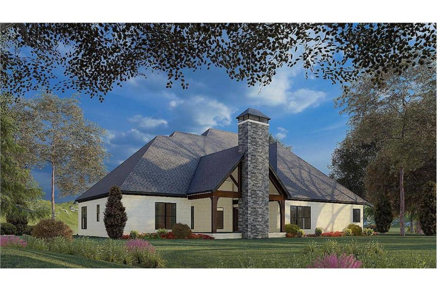 Rear View of this 4-Bedroom,2537 Sq Ft Plan -193-1174
