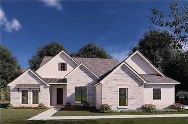 3-Bedroom, 2382 Sq Ft French House - Plan #193-1176 - Front Exterior