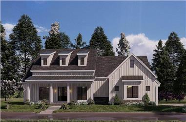 4-Bedroom, 2343 Sq Ft Contemporary Home - Plan #193-1177 - Main Exterior