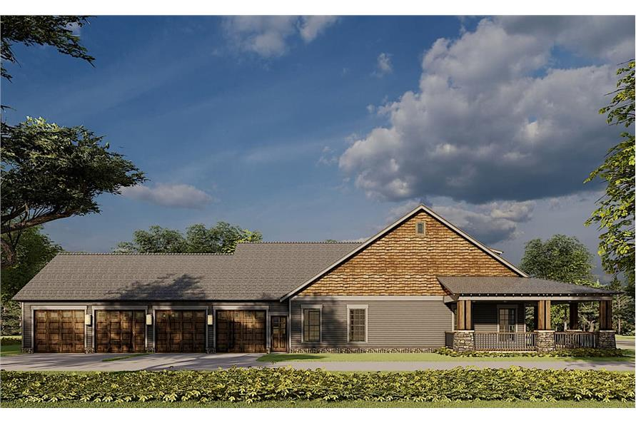 Left View of this 2-Bedroom,1805 Sq Ft Plan -193-1181