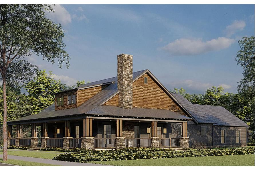 Right View of this 2-Bedroom,1805 Sq Ft Plan -193-1181