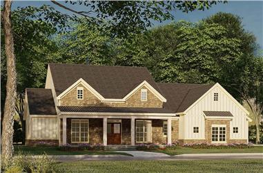 3-Bedroom, 2120 Sq Ft Farmhouse Home -Plan #193-1185 - Main Exterior