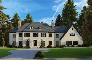 5-Bedroom, 5813 Sq Ft European Home - Plan #193-1186 - Main Exterior
