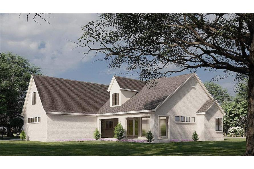 Rear View of this 3-Bedroom,3121 Sq Ft Plan -193-1187