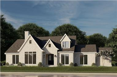 3-Bedroom, 3601 Sq Ft French Home - Plan #193-1188 - Main Exterior