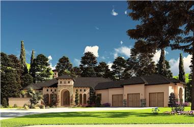 3-Bedroom, 2765 Sq Ft Mediterranean House - Plan #193-1190 - Front Exterior