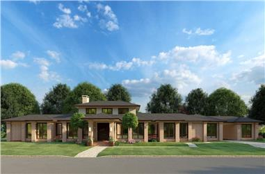 3-Bedroom, 3601 Sq Ft Contemporary Home - Plan #193-1192 - Main Exterior