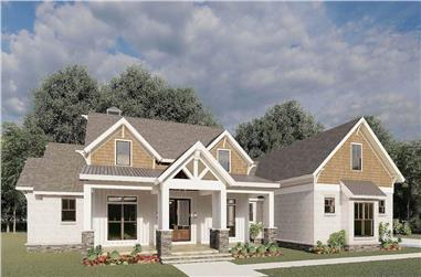 3-Bedroom, 2351 Sq Ft Ranch House Plan - 193-1196 - Front Exterior