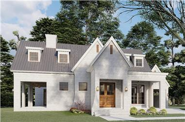3-Bedroom, 2782 Sq Ft French House - Plan #193-1198 - Front Exterior