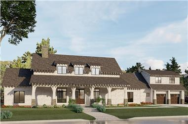 3-Bedroom, 2765 Sq Ft Arts and Crafts House - Plan #193-1200 - Front Exterior