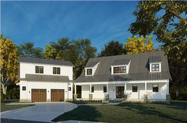 5-Bedroom, 3889 Sq Ft Luxury Farmhouse - Plan #193-1201 - Main Exterior