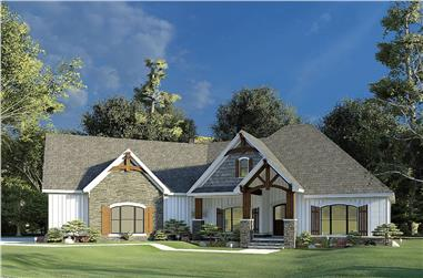3-Bedroom, 2085 Sq Ft French Home - Plan -#193-1202 - Main Exterior