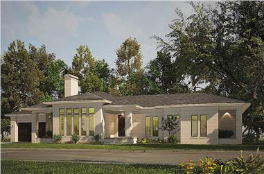 4-Bedroom, 3092 Sq Ft Prairie House - Plan #193-1204 - Front Exterior