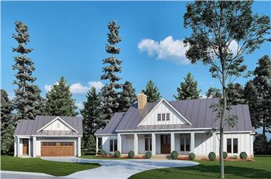 3-Bedroom, 2191 Sq Ft Modern Farmhouse Home - Plan #193-1209 - Front Exterior