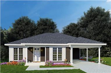3-Bedroom, 1174 Sq Ft Ranch House - Plan #193-1211 - Front Exterior
