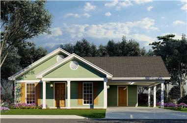 3-Bedroom, 1025 Sq Ft Cottage Home - Plan #193-1212 - Main Exterior