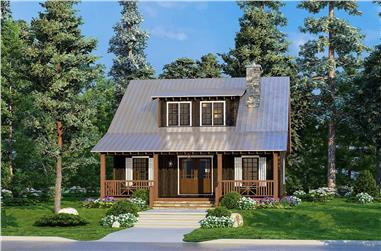 1-Bedroom, 1425 Sq Ft Cottage House Plan - 193-1213 - Front Exterior