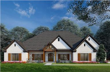 4-Bedroom, 3358 Sq Ft French Home - Plan #193-1214 - Main Exterior