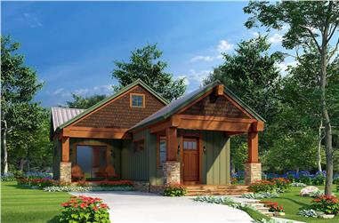 2-Bedroom, 696 Sq Ft Cottage House - Plan #193-1215 - Front Exterior
