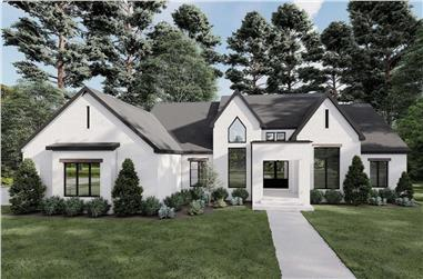 3-Bedroom, 2370 Sq Ft French House-  Plan #193-1216 - Front Exterior