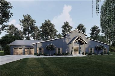 5-Bedroom, 3246 Sq Ft Barn Style House - Plan #193-1217 - Front Exterior
