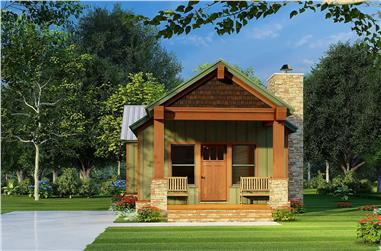 2-Bedroom, 921 Sq Ft Cottage House Plan - 193-1221 - Front Exterior